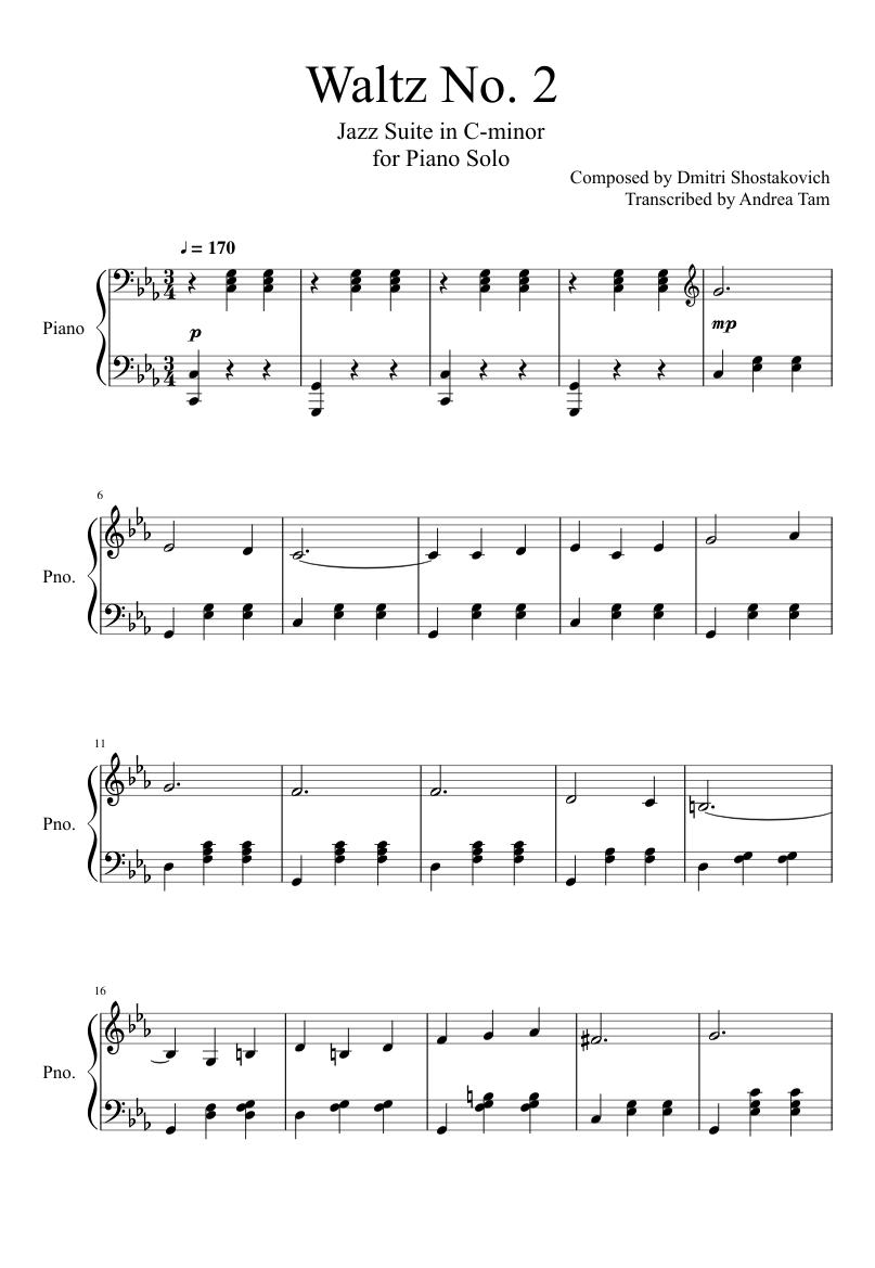 Shostakovich Jazz Suite Score Ebook