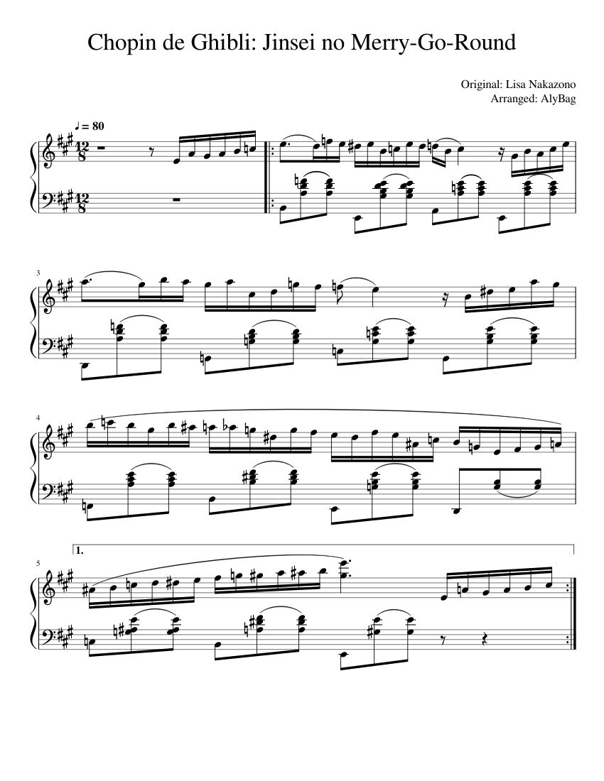 Chopin De Ghibli Sheet Music Pdf Download