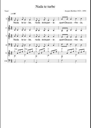 Taizé sheet music free download in PDF or MIDI on MuseScore com