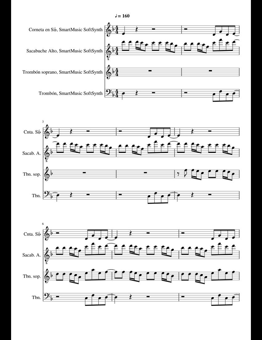 The Trooper Iron Maiden Brass Quartet - piano tutorial