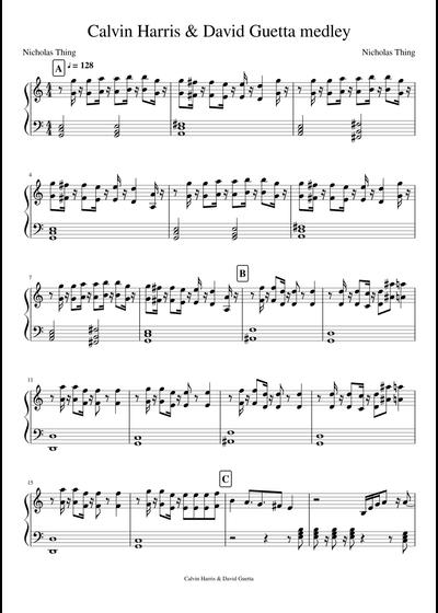 Calvin Harris sheet music free download in PDF or MIDI on