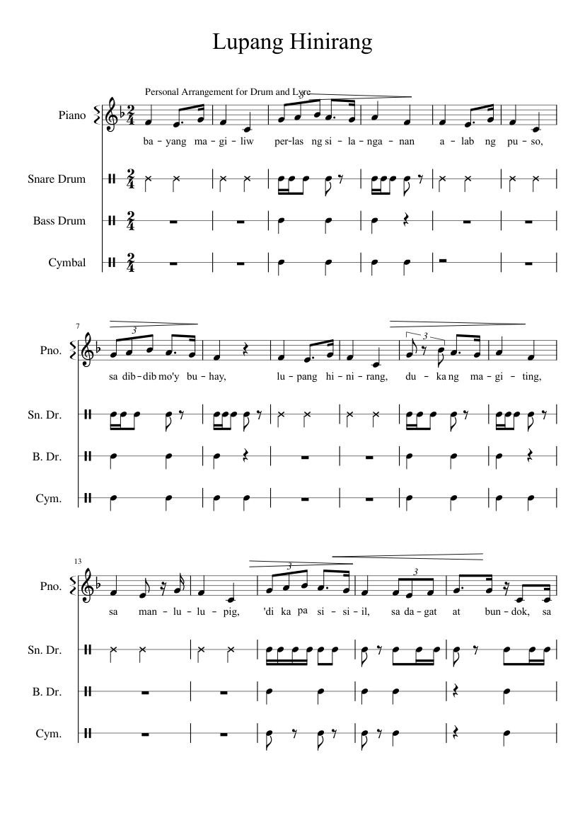 lupang hinirang piano sheet