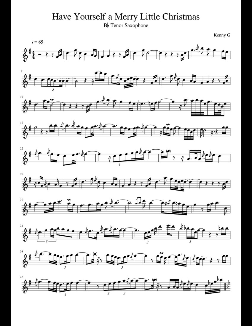 Have Yourself A Merry Little Christmas Chords.Have Yourself A Merry Little Christmas Sheet Music For Tenor
