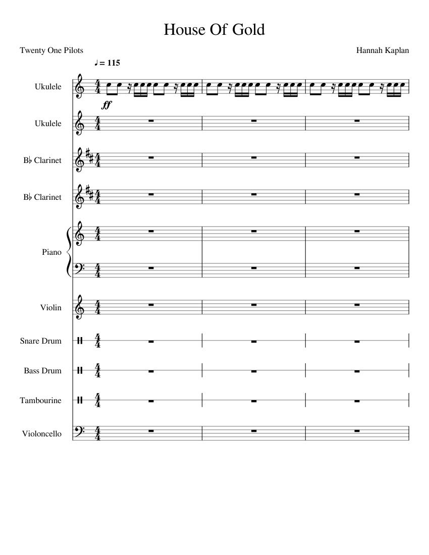 House Of Gold- Twenty One Pilots- Best Version sheet music