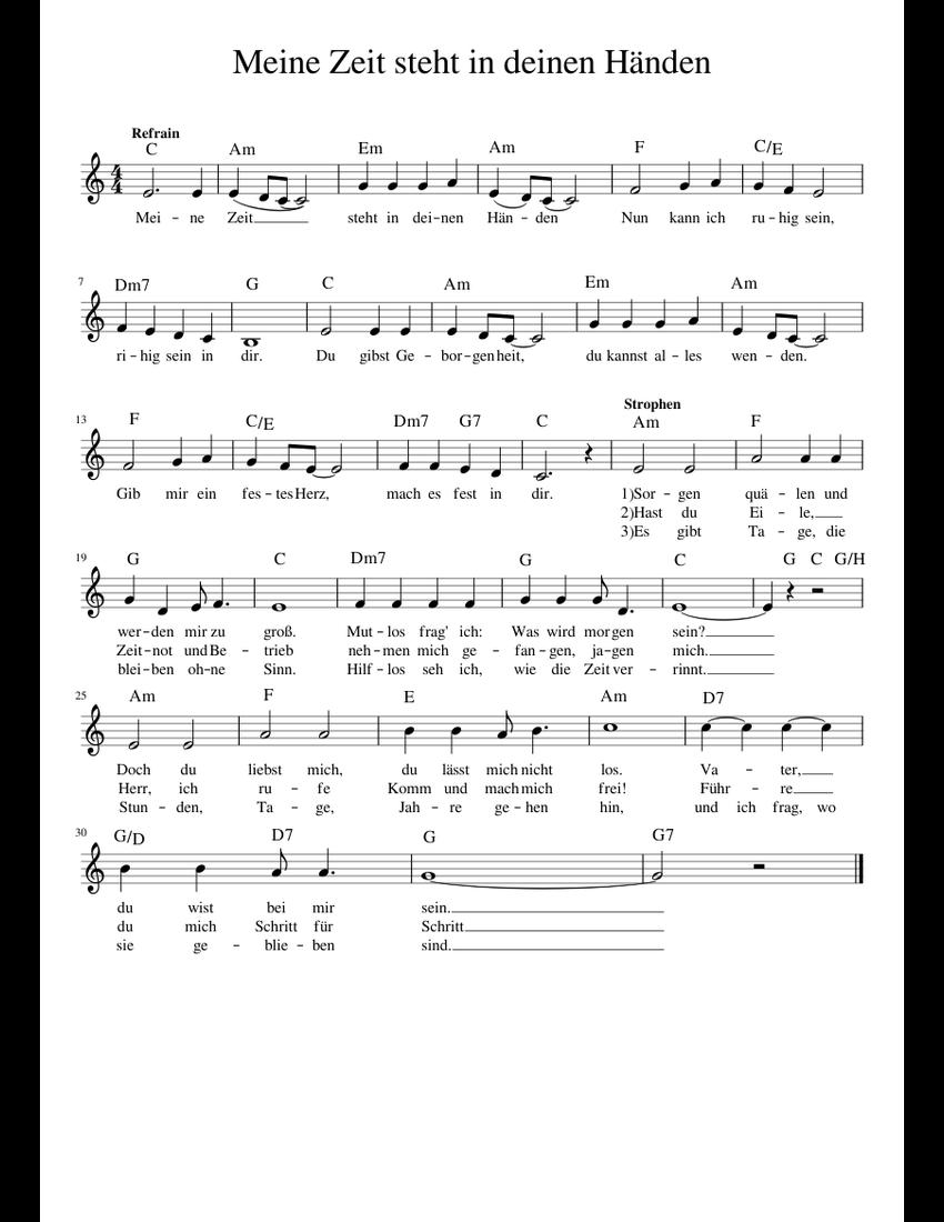 Meine Zeit Steht In Deinen Händen Liedtext