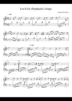 Let it go sheet music for Piano download free in PDF or MIDI