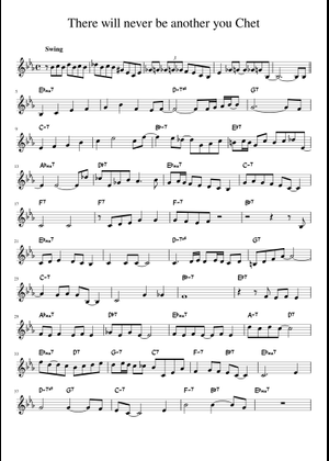 Chet Baker sheet music free download in PDF or MIDI on MuseScore com