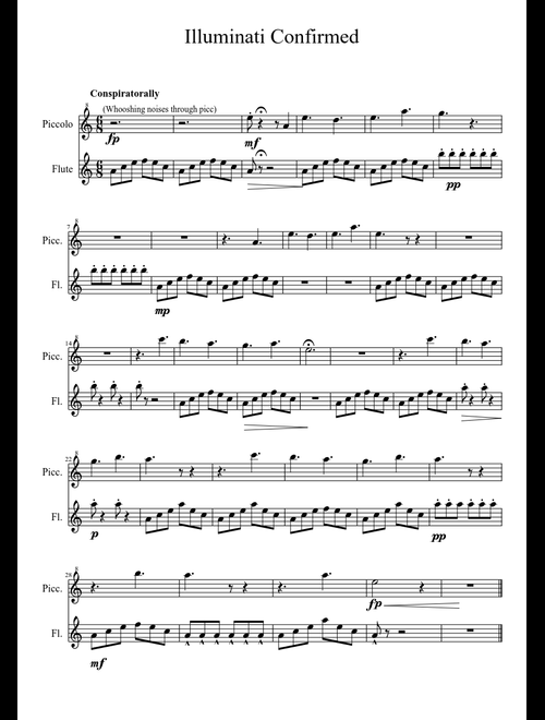 The X-Files Theme Excerpt sheet music for Flute, Piccolo