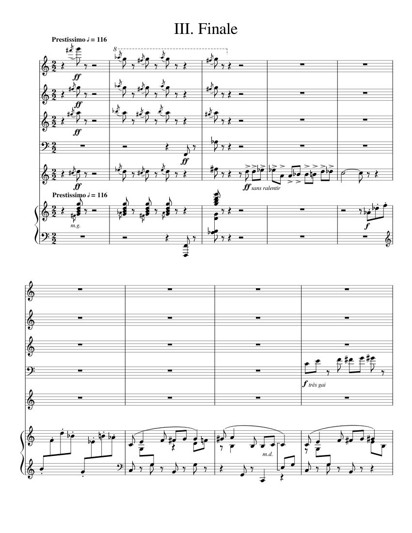 poulenc sextet score pdf download in Cornwall