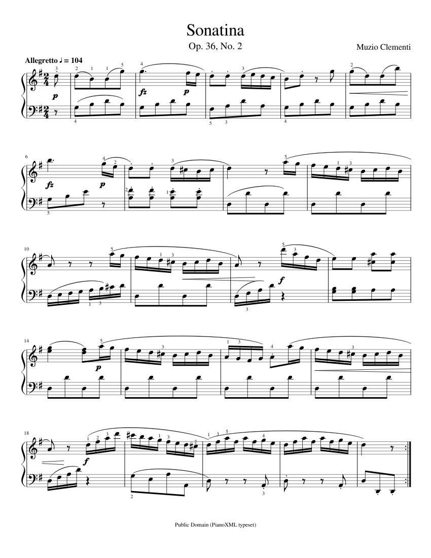Sonatina No. 2: First Movement