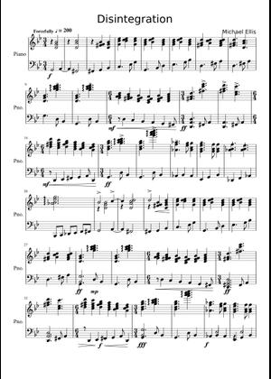 disintegration sheet music for Flute, Alto Saxophone