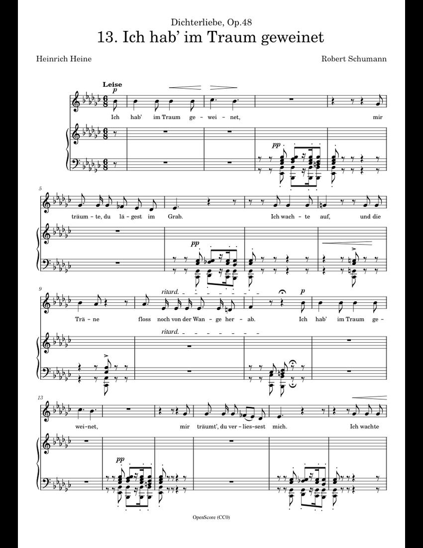 cute cheap wholesale online sleek Schumann, Robert - Dichterliebe, Op.48, No.13 - Ich hab' im ...