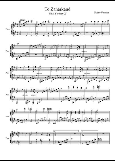 Final Fantasy Sheet Music Free Plusneat