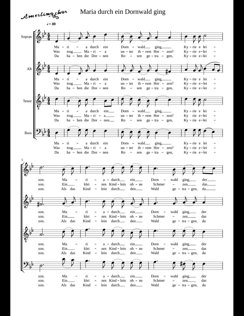 Lied Maria Durch Ein Dornwald Ging