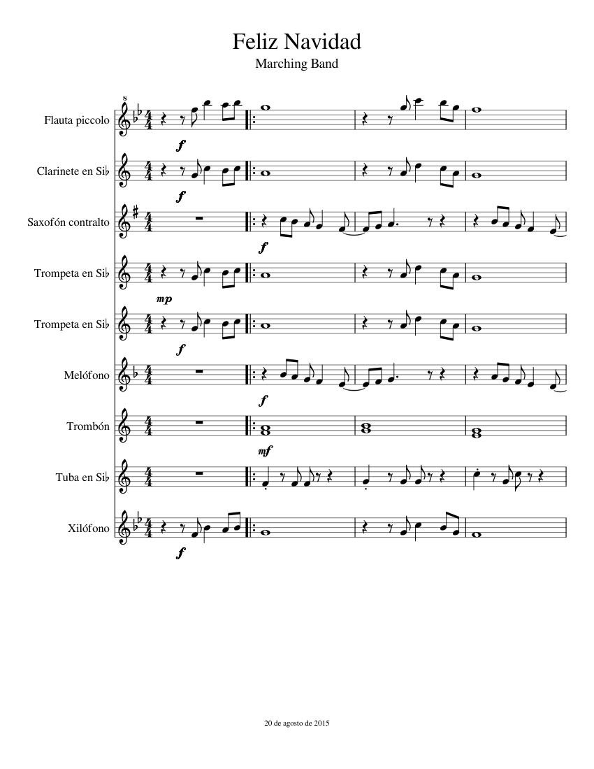Feliz navidad xilofono