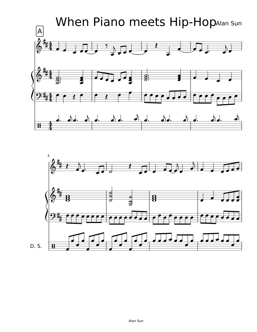 When Piano meets Hip-Hop sheet music download free in PDF or MIDI
