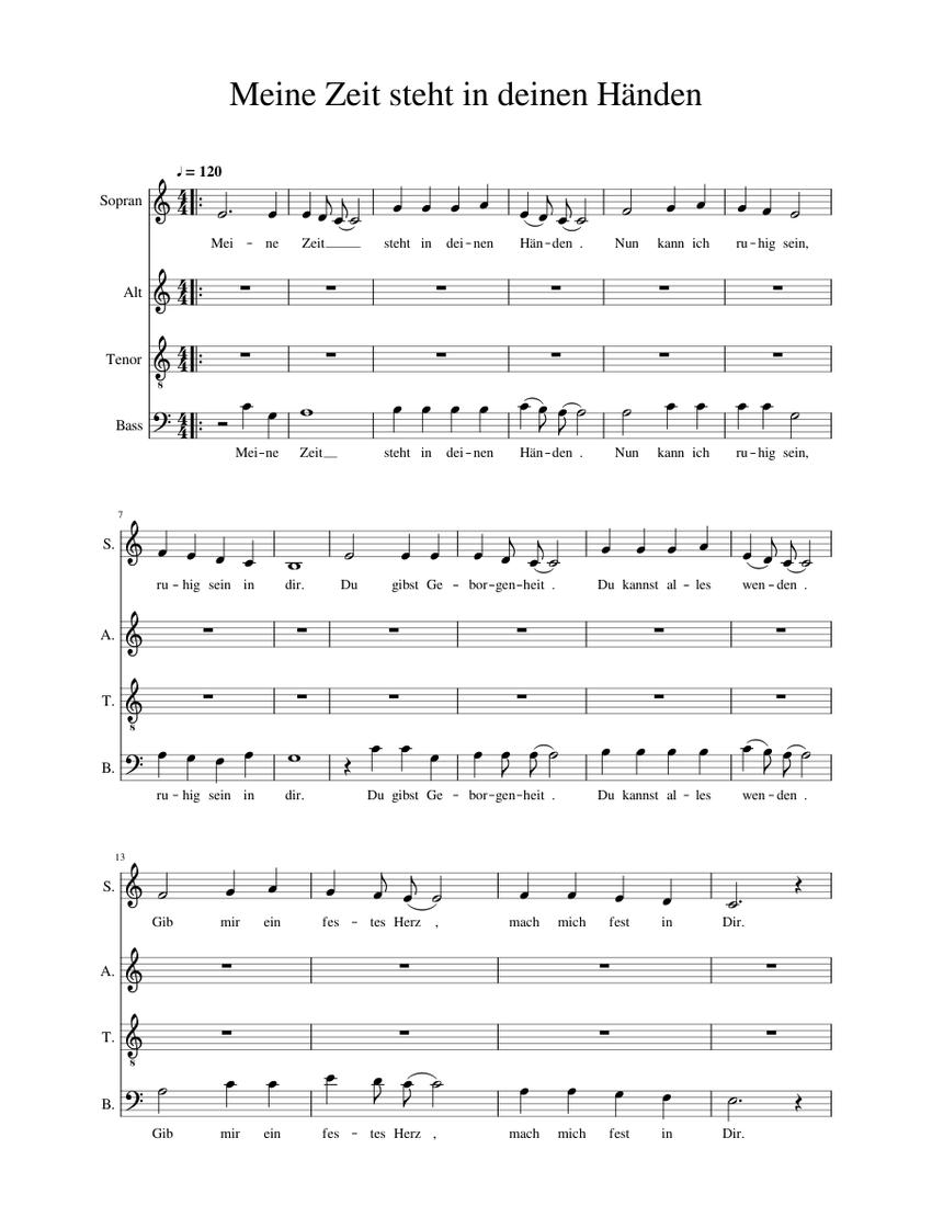 Meine Zeit Steht In Deinen Händen Gesangbuch