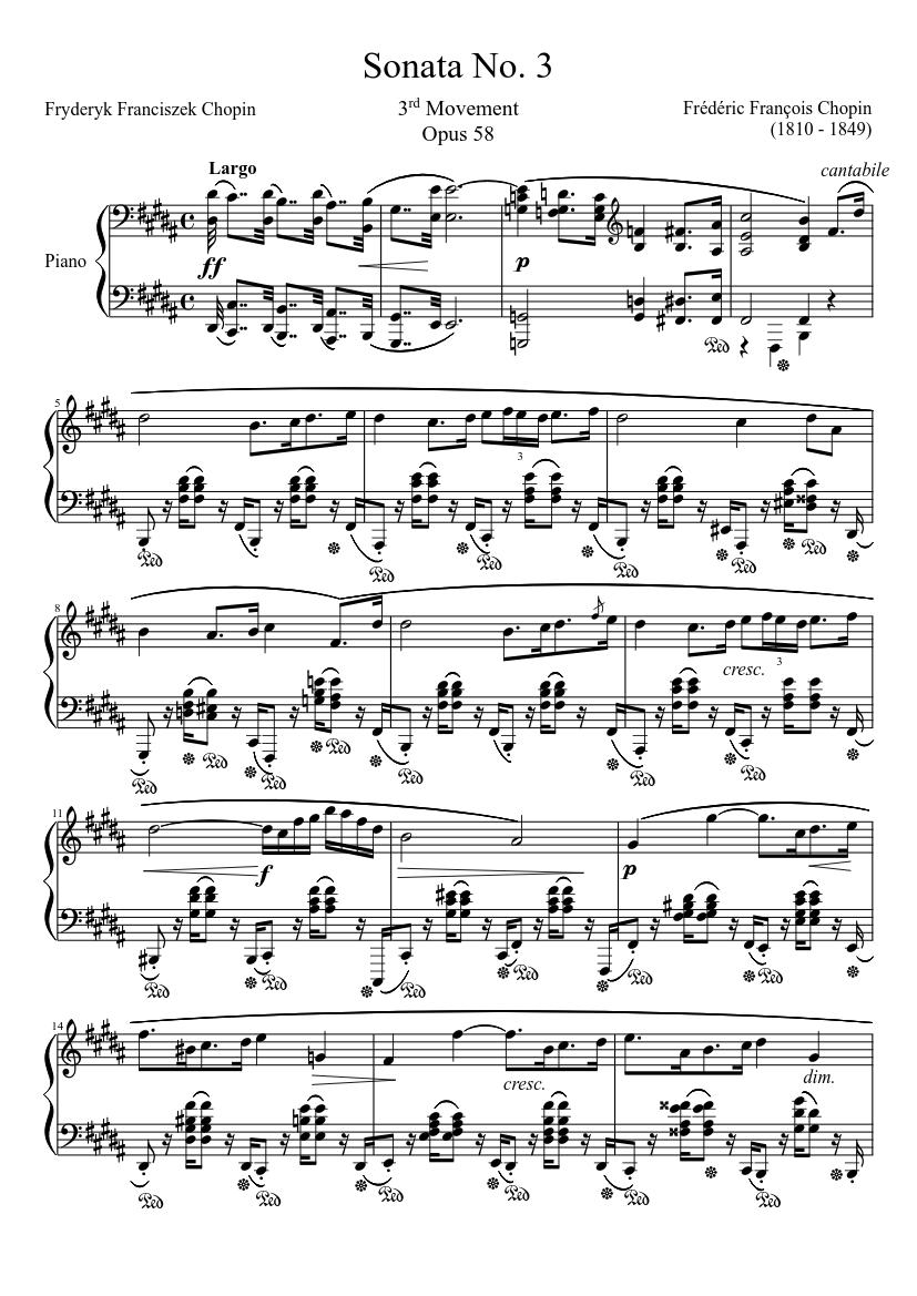 Piano Sonata no. 3 C major op. 2 no. 3