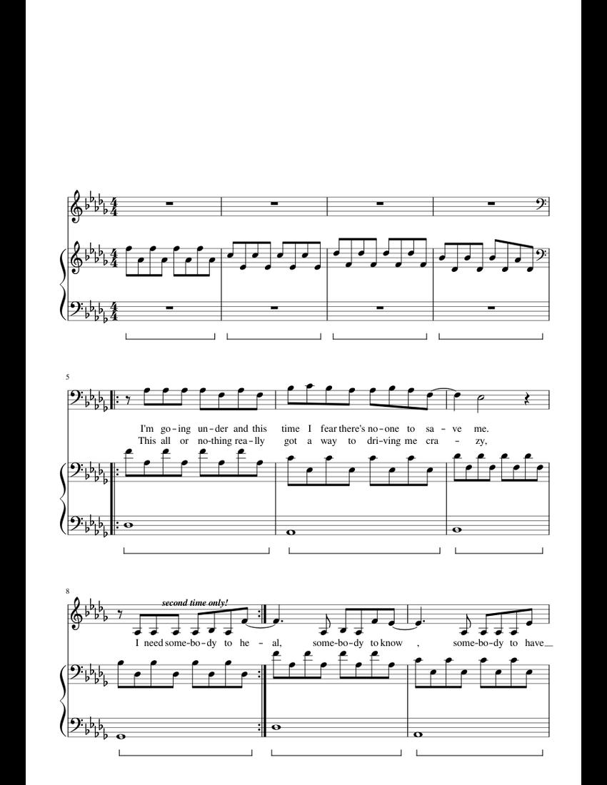 Love someone piano sheet music musescore