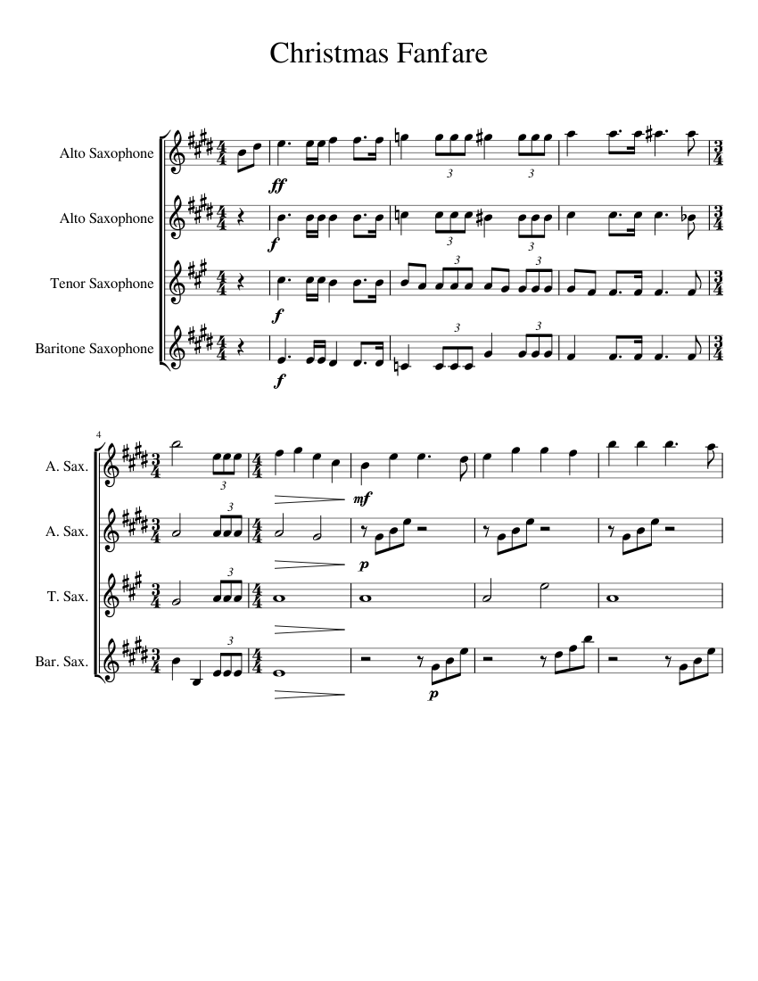 Terry High Sax Fanfare Sheet music for Saxophone (Alto