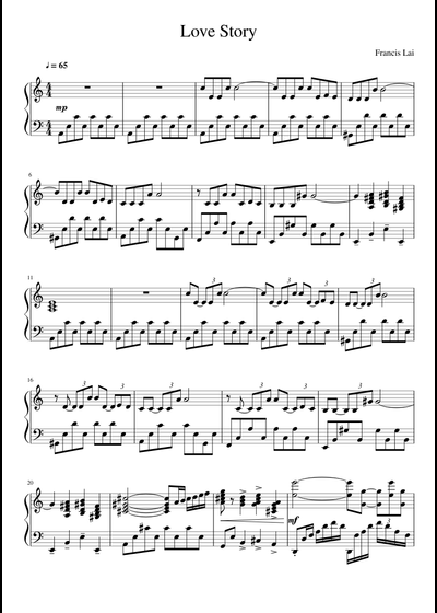 Francis Lai Sheet Music Free Download In Pdf Or Midi On