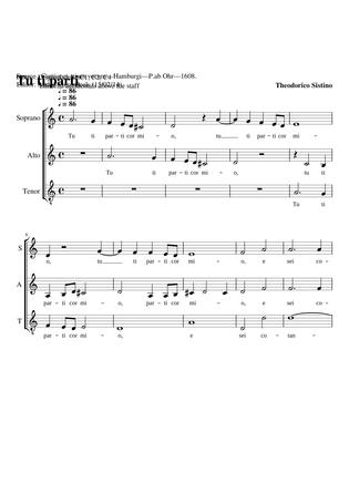 Tu ti parti Sheet music free download in PDF or MIDI on Musescore.com