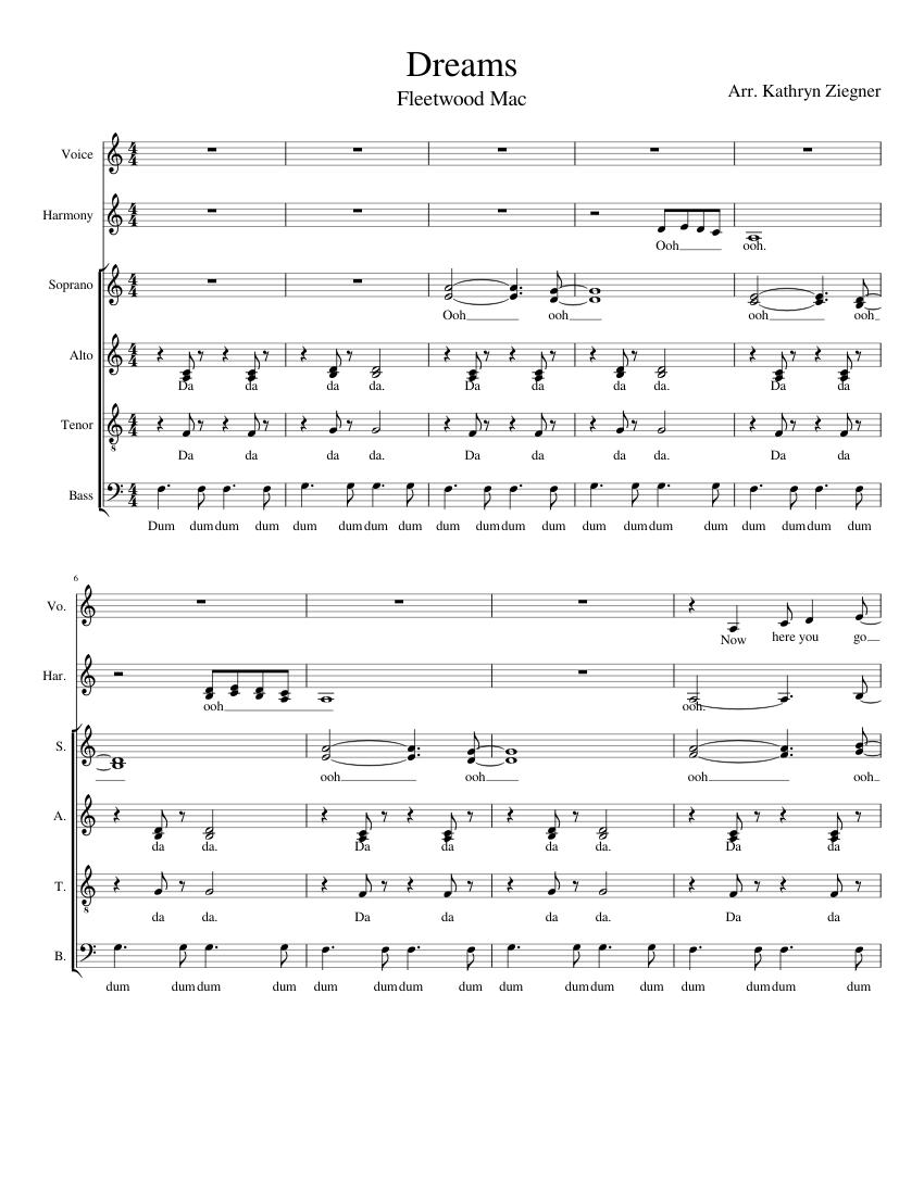 fleetwood mac piano sheet music free