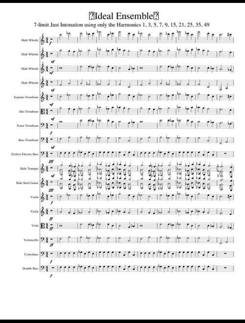 👌Ideal Ensemble👌 (trombone, slide whistle, string quartet