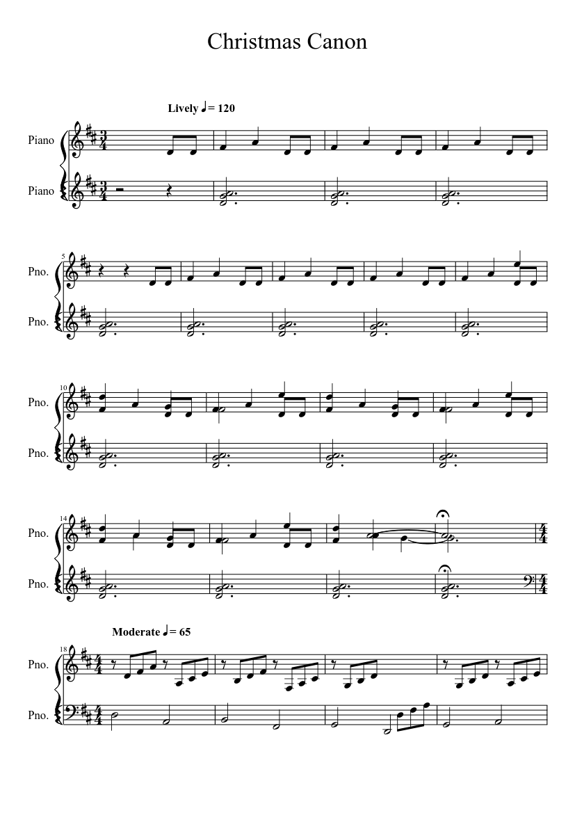 graphic about Christmas Songs Piano Sheet Music Free Printable referred to as Xmas Canon sheet audio obtain free of charge within PDF or MIDI