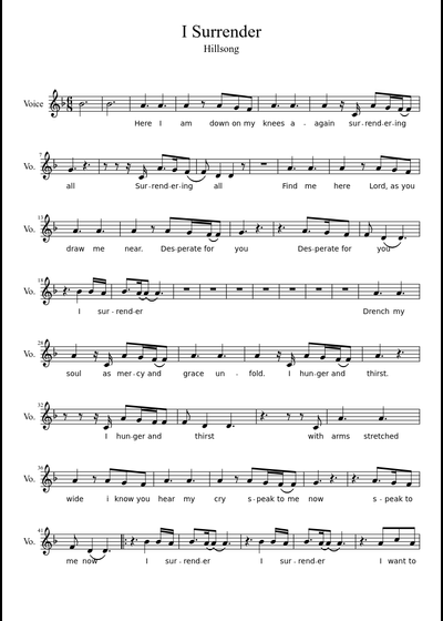 Hillsong sheet music free download in PDF or MIDI on