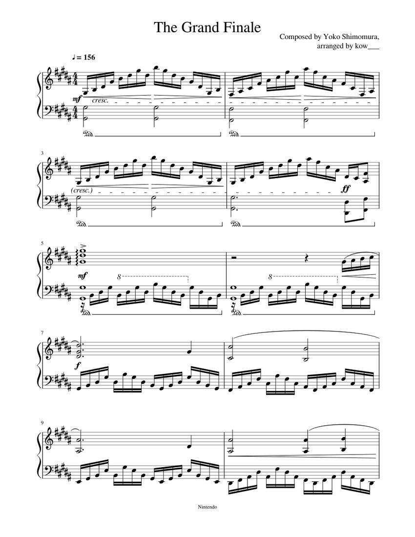 The Grand Finale Piano Solo Mario And Luigi Bowser S Inside