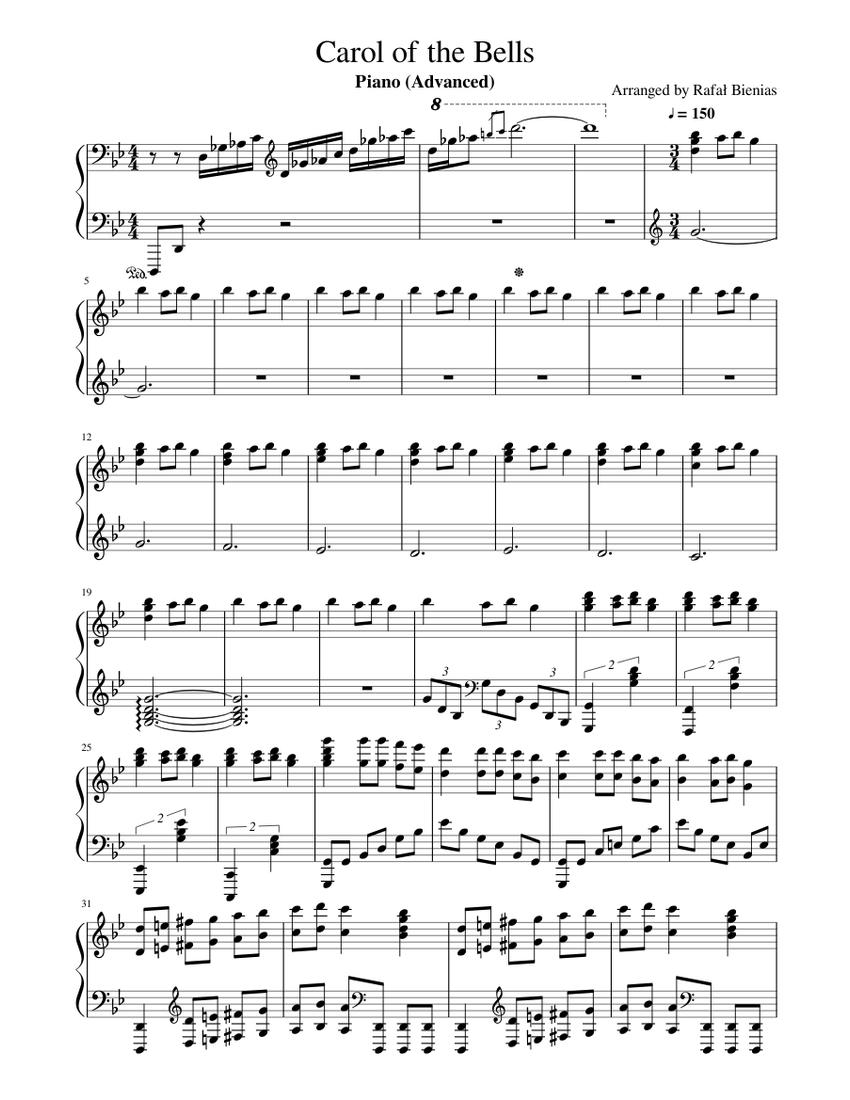 carol of the bells free sheet music