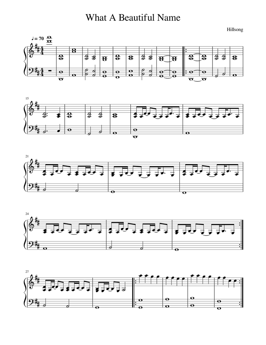 What A Beautiful Name Sheet Music For Piano Solo Musescore Com,Benjamin Moore Best Blue Grey Paint Colors