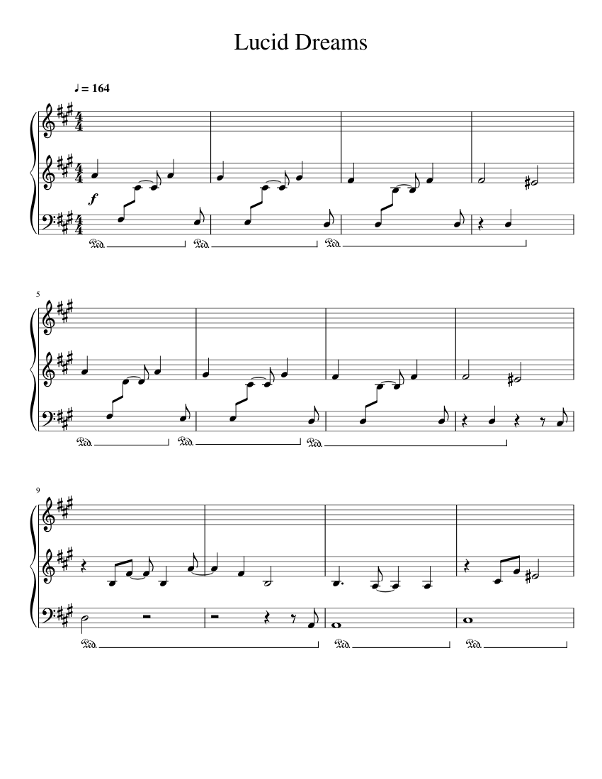 Lucid Dreams sheet music for Piano download free in PDF or MIDI