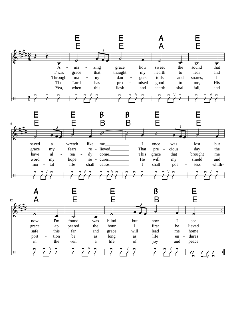 image regarding Free Printable Piano Sheet Music for Amazing Grace called Outstanding Grace sheet tunes obtain totally free in just PDF or MIDI