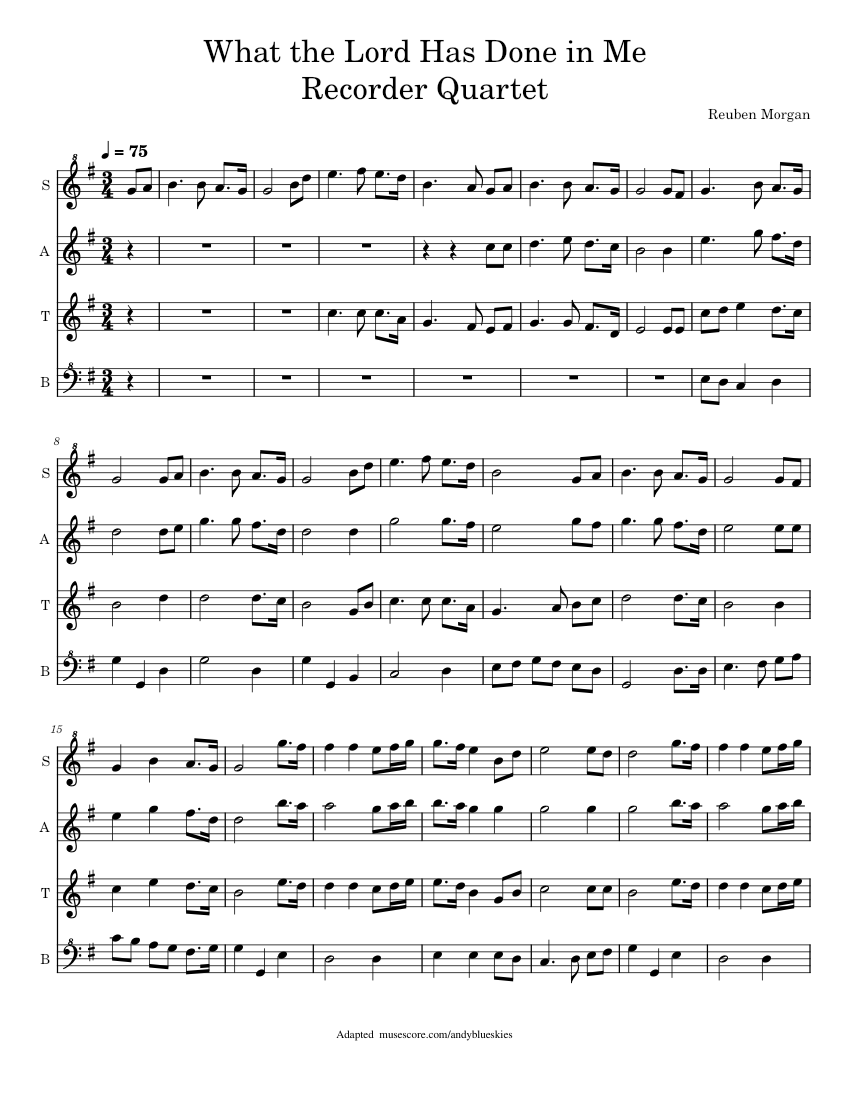 what the lord has done in me sheet music
