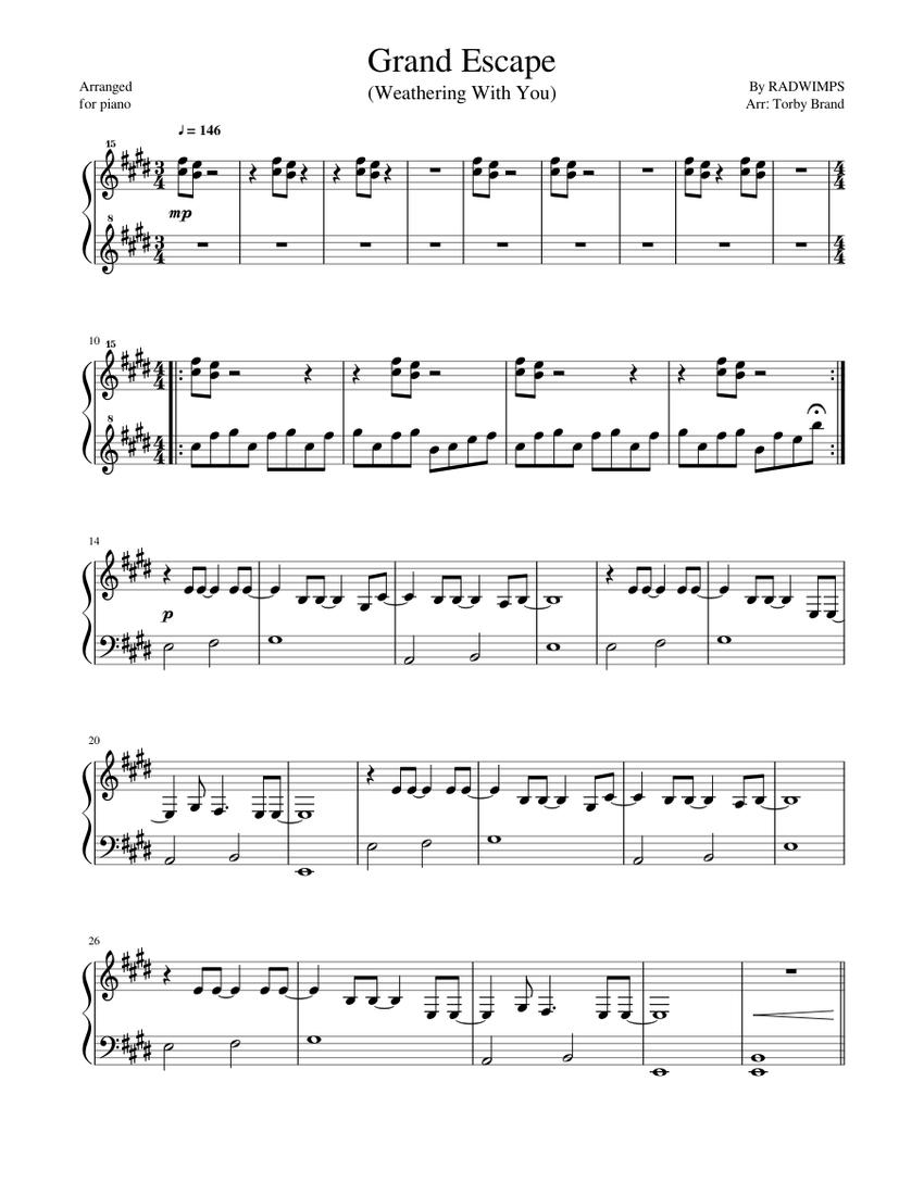 グランド エスケープ 楽譜