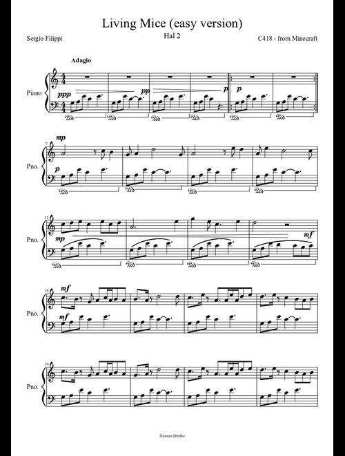 Living Mice - Easy Version - piano tutorial